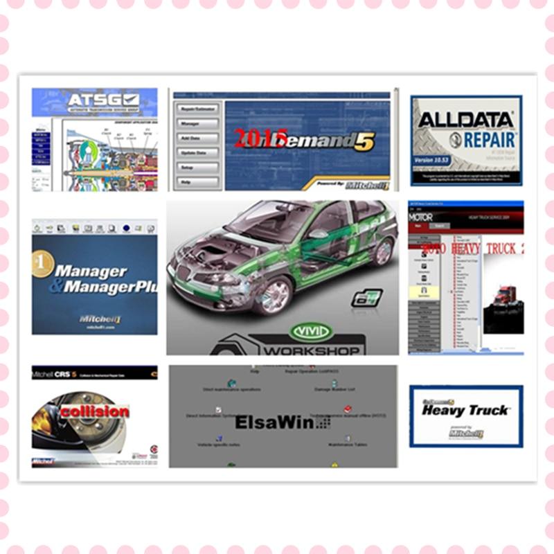 2020 hot Alldata Mitchell Software All data 10.53+AutoData 3.38+mitchell on demand 2015+ElsaWin+Vivid+atsg 24 in 1tb HDD USB 3.0