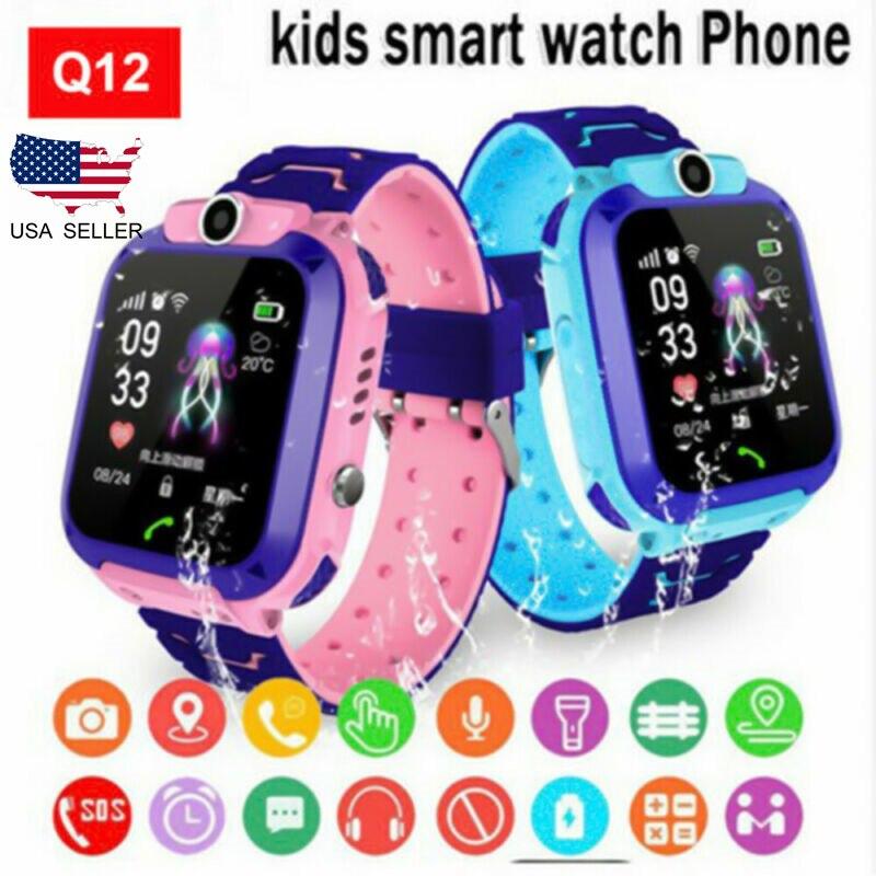 Q12 Kids Smart Watch LBS Tracker Location Multifunction Wristwatch Camera Waterproof IOS Android Phone Children Gift