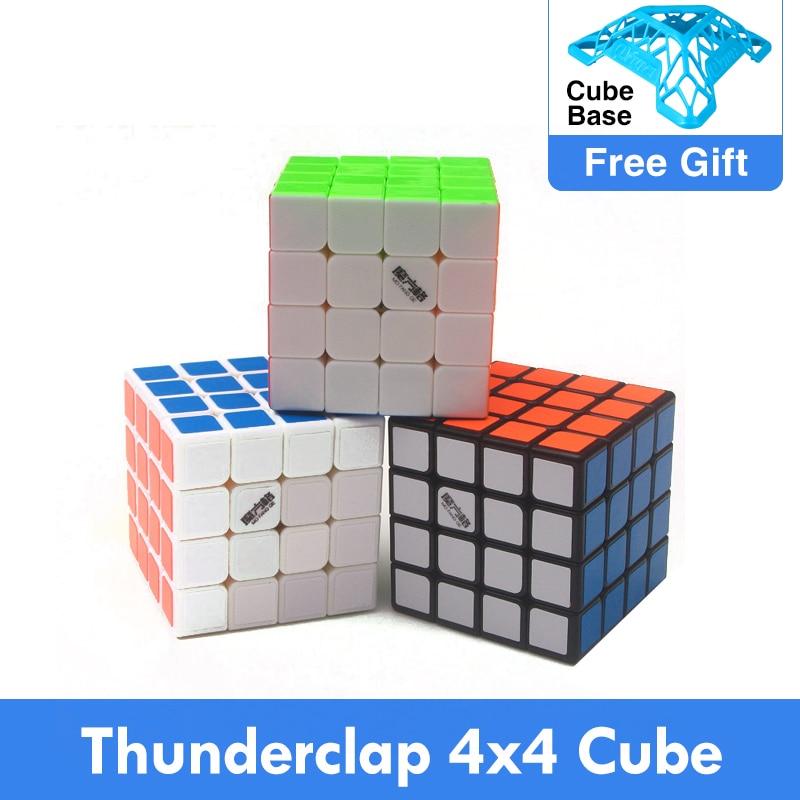 Qiyi mofangge Thunderclap 4x4x4, rompecabezas de velocidad de cubos mágicos profesionales, 6 6,2 cm, 4x4 LeiTing mágico, juguetes para niños y adultos
