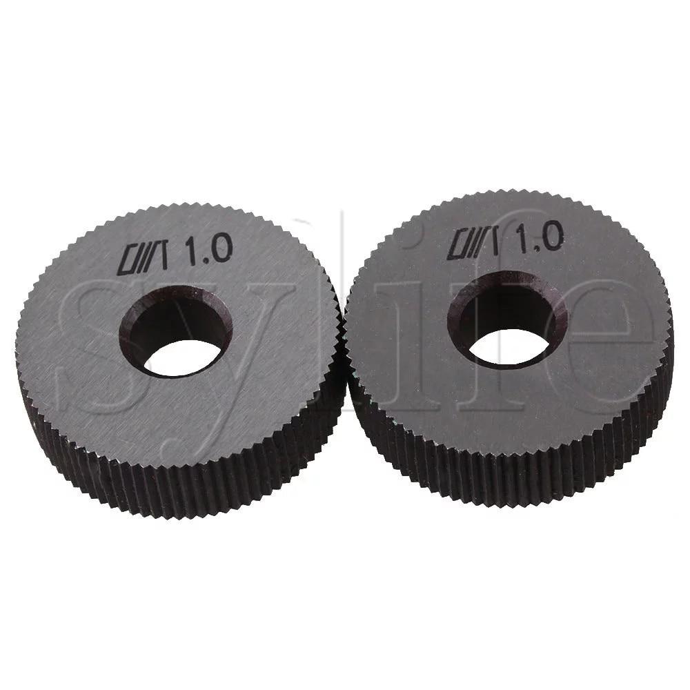 28mm outil de moletage en acier argenté simple roue droite Dia paquet de 2