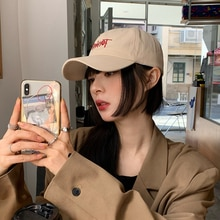 Hat Female Peaked Cap Ins Fashion Brand Men's New Lettered Casual Versatile Sun Protection Hard Top