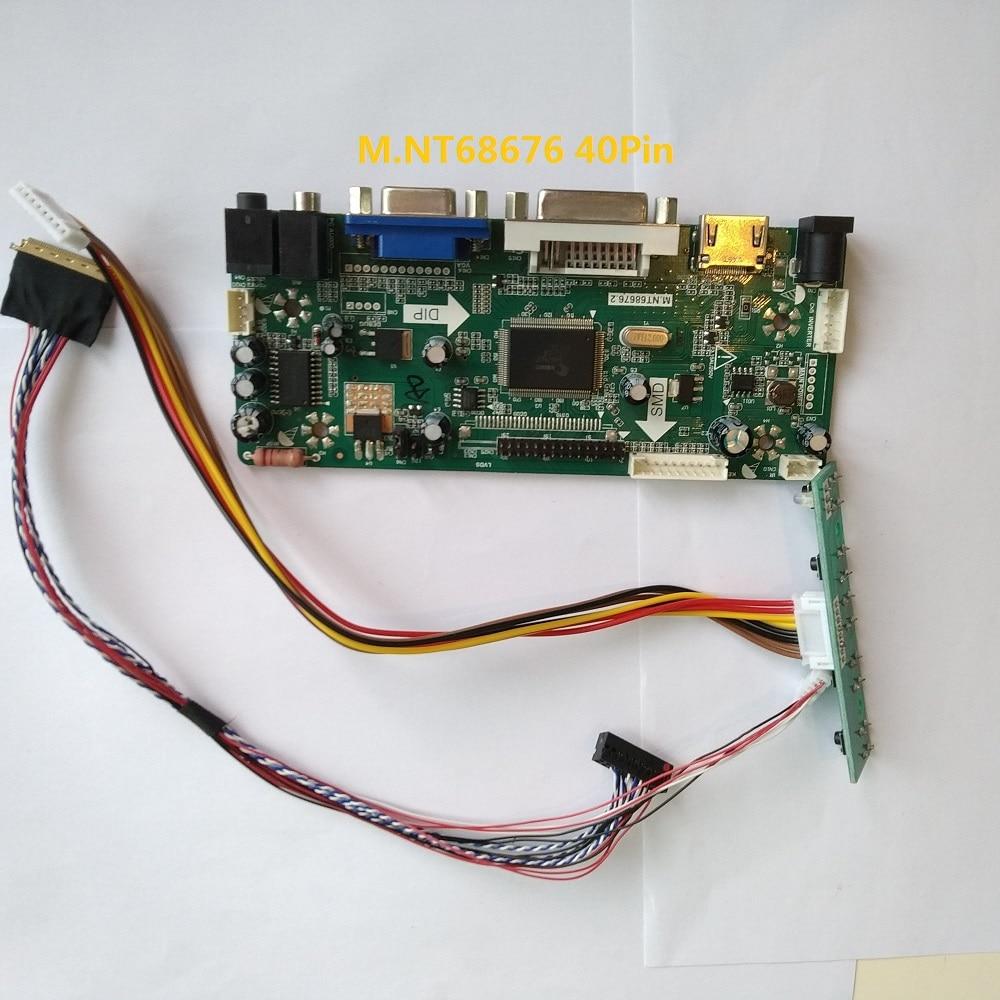 طقم شاشة CLAA156WB11A VGA ، لوحة تحكم LCD ، HDMI DVI M.NT68676 ، 40 دبوس LVDS 1366X768 ، 15.6 بوصة