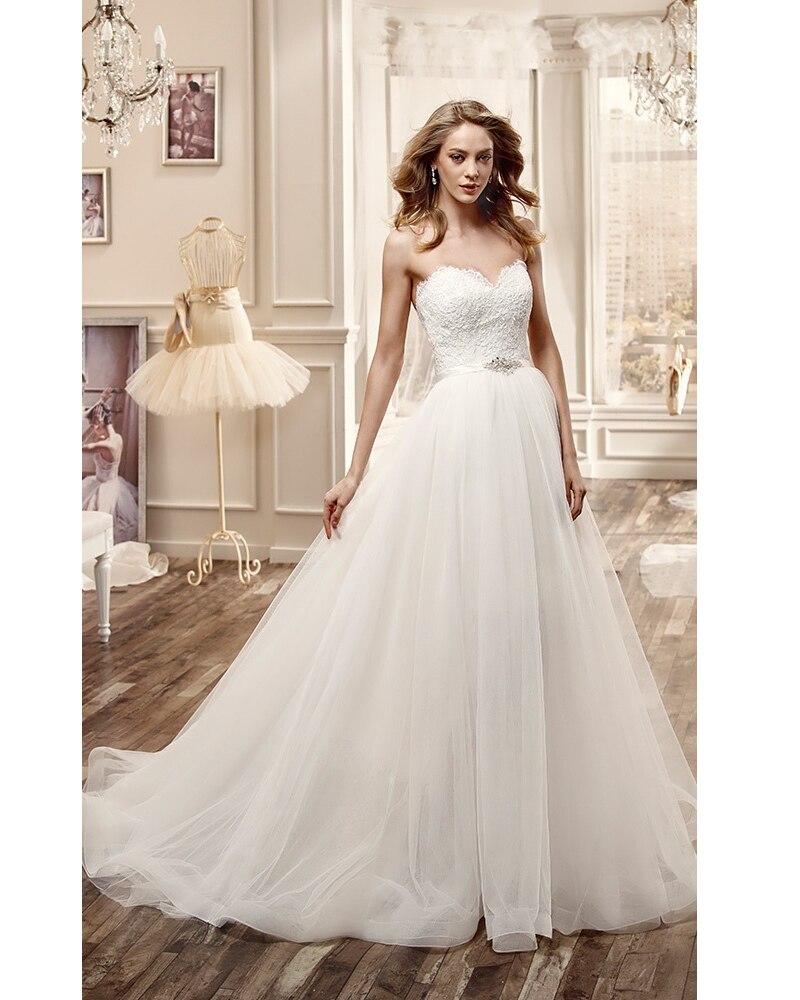 Vestido De Novia De talla grande, falda desmontable Blanca, para boda, 2016