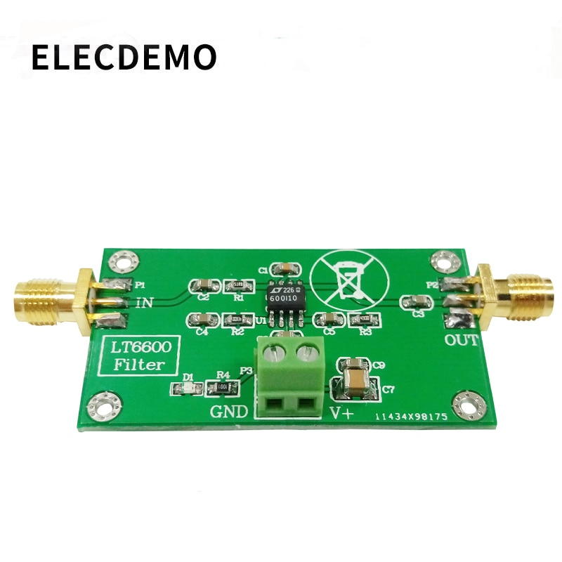 LT6600 Low Pass Filter Module Differential Amplifier Noise Distortion DAC Processing