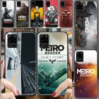 metro 2033 exodus game phone case for samsung galaxy note 4 8 9 10 20 s8 s9 s10 s10e s20 plus uitra ultra black luxury cover