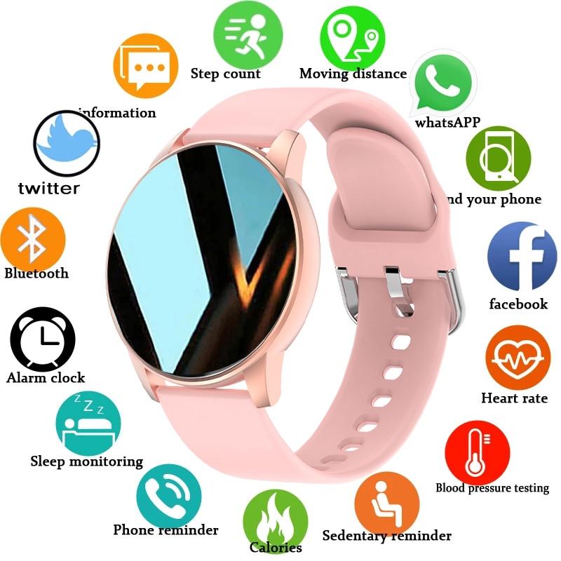 LIGE New Color Screen Smart Watch Women Men Waterproof Sport Fitness watch Heart rate blood pressure