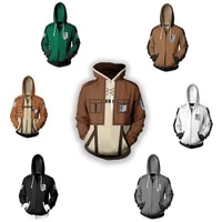 attack on titan with the same hoodie shingek no kyojin scouting legion unisex cosplay costume anime cosplay green zipper jacket