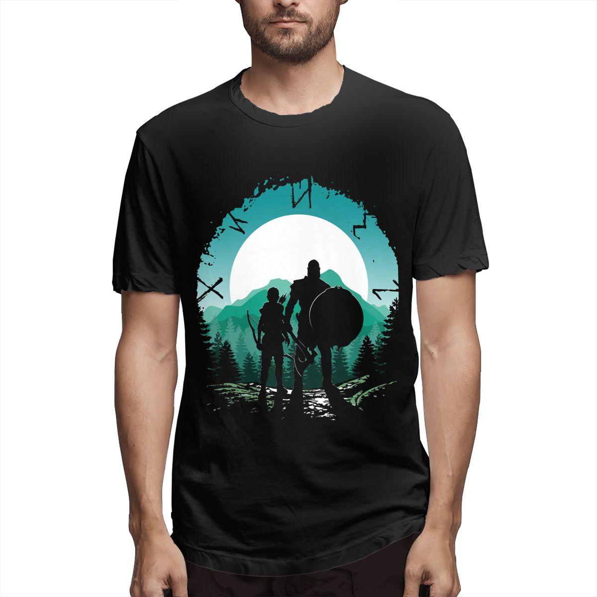 Спартанский Кратоса и сын Мужская Юмор футболки для девочек футболки с короткими рукавами и круглым вырезом, футболка из хлопка, одежда для ...
