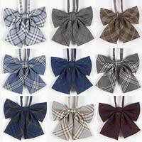 2021 new japanese high school jk orthodox lattice uniform bow tie lovely school girls boys uniform students bowtie adjustable