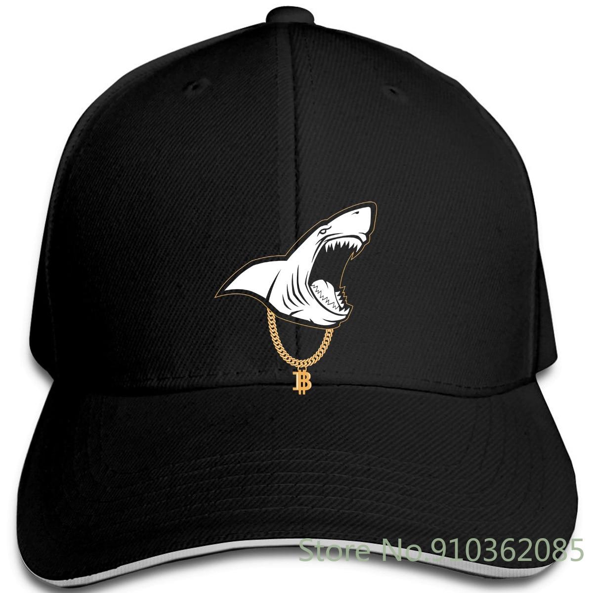 Gangsta Shark Bitcoin minador de monedas y gorras ajustables gorra de béisbol hombres y mujeres