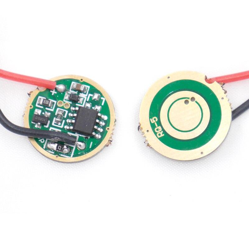 Placa de circuito de Controlador LED de 2400mAh 17mm 3 modos 5 modos para cree xml led xml2 led T6 U2 U3 emisor LED