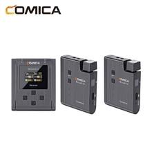 Comica BoomX-U U2 Rundfunk Ebene Multi-Funktionale Mini UHF Wireless Mikrofon Dual Sender Ausgelöst 1 Empfänger