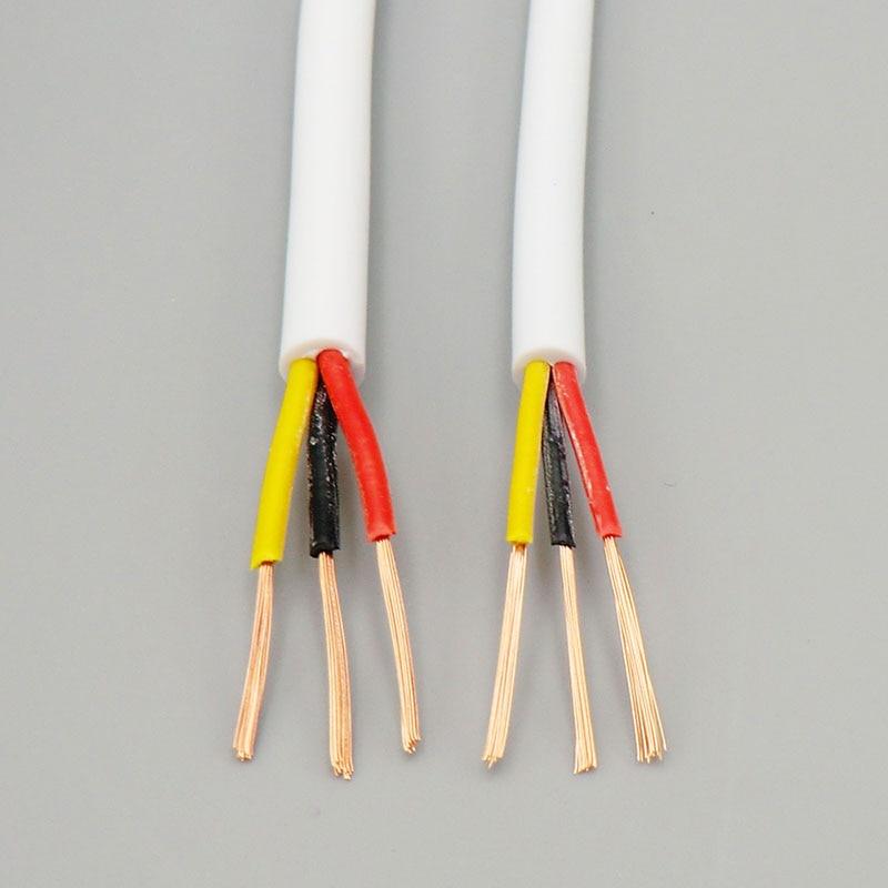 Cable blanco suave de la vaina 3 núcleo 0,2, 0.3mm ²a través de la Línea de Control de señal de producción de extrusión con cobre sin oxígeno 24, 22AWG 5m