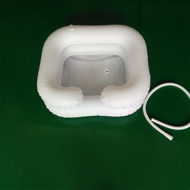 Portable Hair Washing Basin With Drain Tube For The Disabled Inflatable Shampoo Basin Tub Bed Rest Nursing Aid Sink Shampoo Tray enlarge