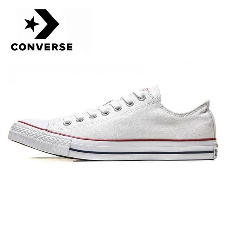 Original Converse- Chuck Taylor All Star plataforma Low Top hombres y mujeres unisex Skateboarding zapatillas blancas zapatos de lona clásicos