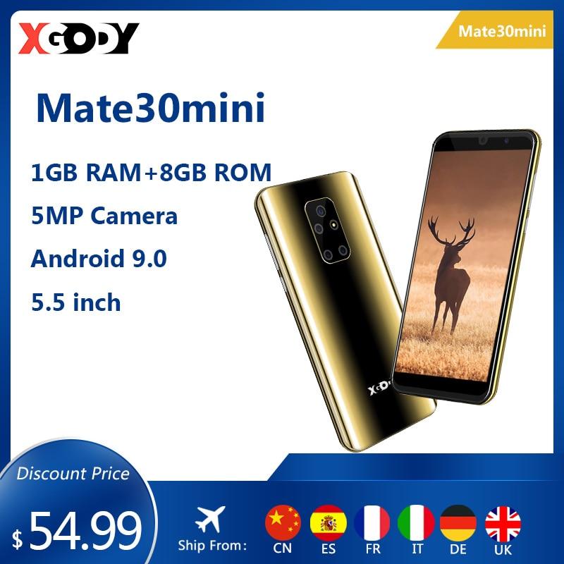 XGODY Mobile Phone Android 3G Smartphone Mate 30 Mini 9.0 5.5
