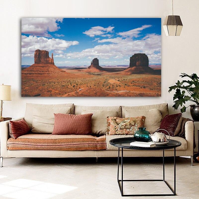 RELIABLI póster lienzo pintura paisaje impresión desierto Valle pared arte pared cuadros para sala de estar decoración del hogar sin marco