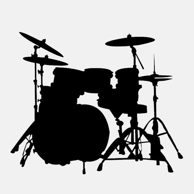 Dawasaru tambor conjunto banda rock adesivos de carro adesivos personalizados decalques portátil mala motocicleta auto acessórios pvc, 15cm * 12cm