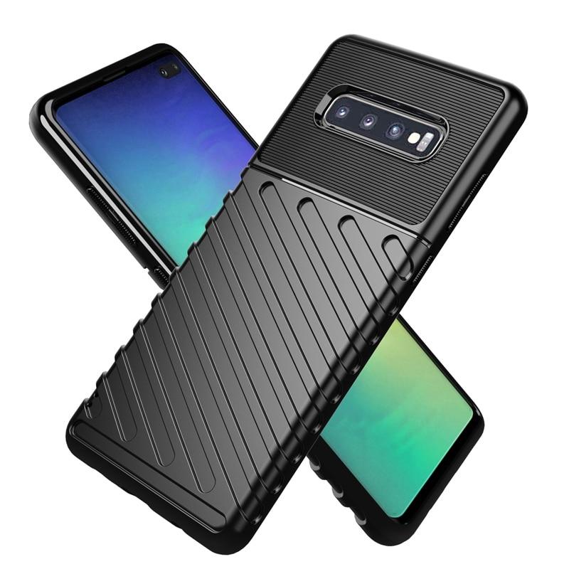 Funda militar blindada de alta resistencia para Samsung S10 Plus S10 Lite e S10e funda de silicona resistente para Samsung S20 Plus S20 Edge Cover