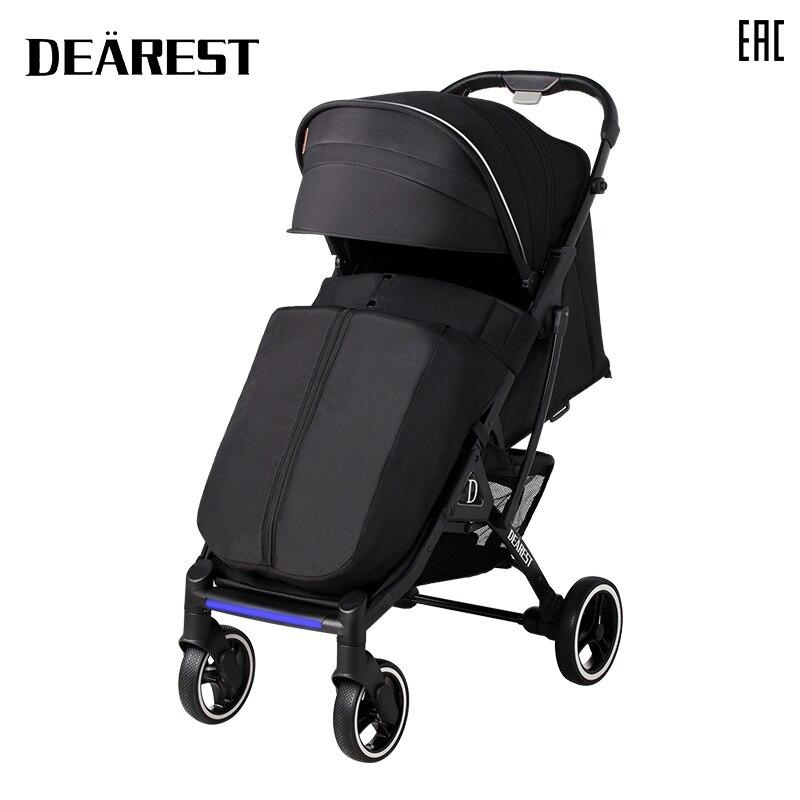 Deareat 819 New 2021 Baby Stroller Can Sit Or Lie Super Lightweight Folding Newborn Children's Portable High Landscape