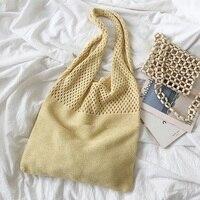 Тканые женские сумки на плечо, женские дизайнерские вязаные плетеные сумочки, летняя пляжная сумка-тоут для вечеринки, кошельки, сумка-шопп...