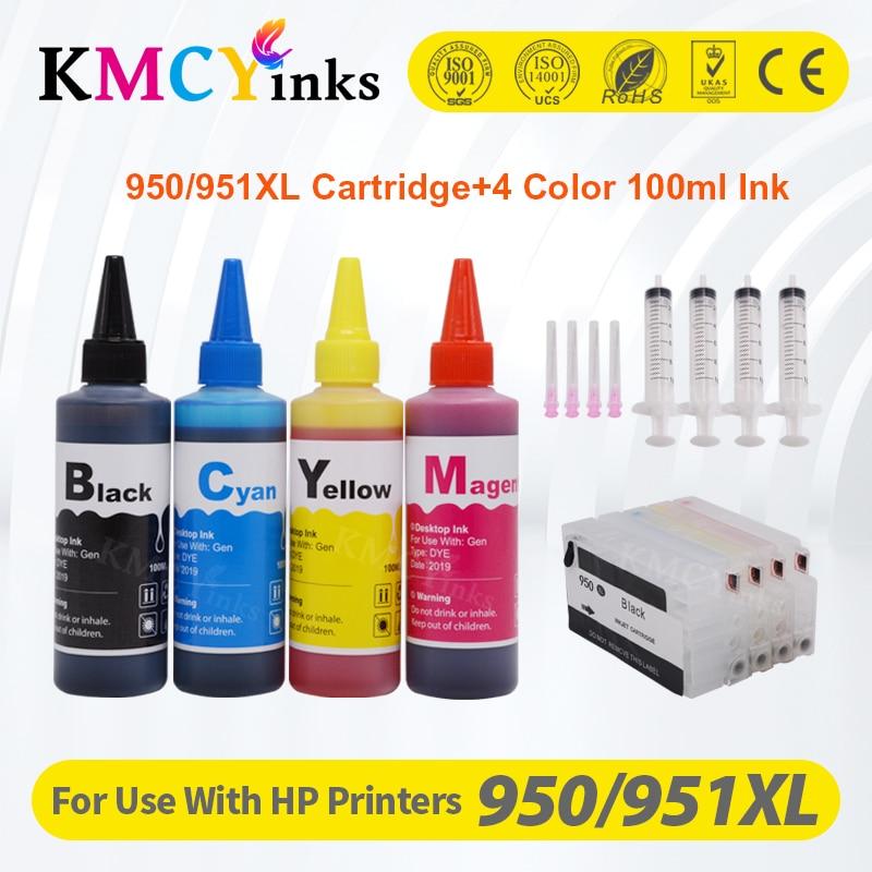 KMCYinks ل HP950 951xl 950 951 خرطوشة الحبر القابلة لإعادة الملء ل HP Officejet Pro 8100 8600 8610 8620 8630 8660 8615 8625 251dw