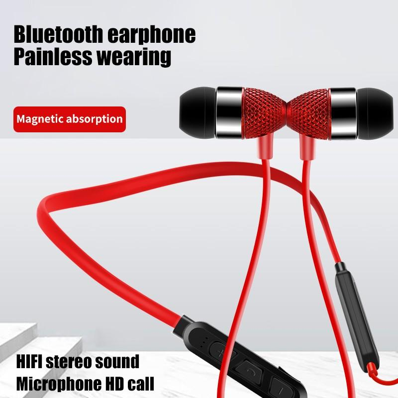 G08 Pineapple Head Bluetooth 5.0 Earphone Hanging Neck Memory Collar Magnetic Absorption Nano Sports In-Ear Bluetooth Headset enlarge