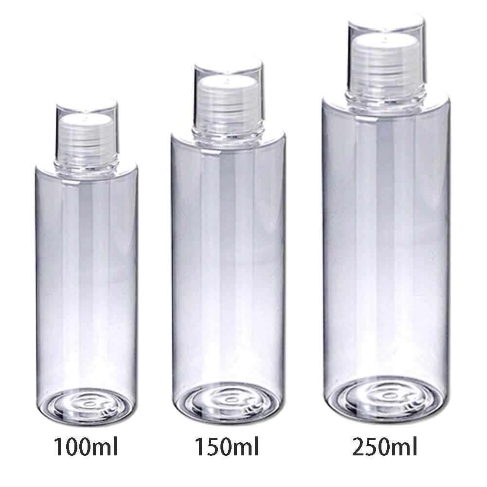 Casa óleo essencial limpar aleta superior toner viagem vazio lavagem do corpo recipiente recarregáveis tampas de parafuso loção garrafas shampoo creme