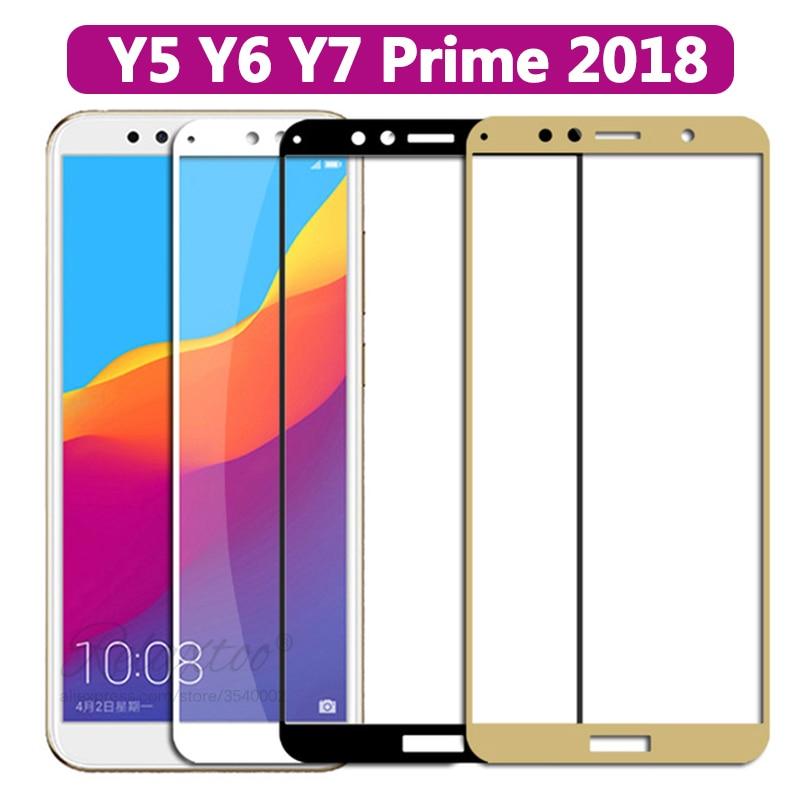 Schutz Gehärtetem Glas auf die Für Huawei Y5 Y6 Y7 Prime 2018 Glas huawey y 5 6 7 y52018 y72018 y82018 screen protector Film
