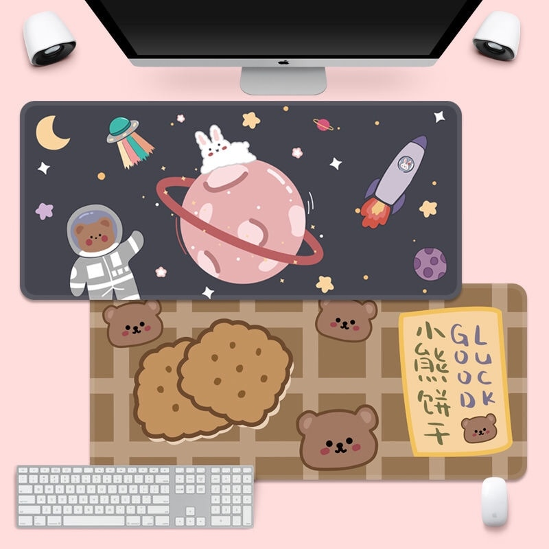 Cute Mouse Pad Super Creative Ins Tide Large Game Computer Keyboard Office Long Table Mat Kawaii Desk for Teen Girls for Bedroom