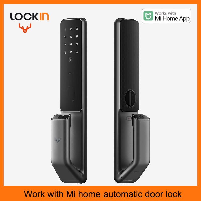 Promo Automatic Fingerprint Door Lock Password NFC Phone Unlock Smart Lock Work with Xiaomi Mihome Smart Home Linkage with Doorbell