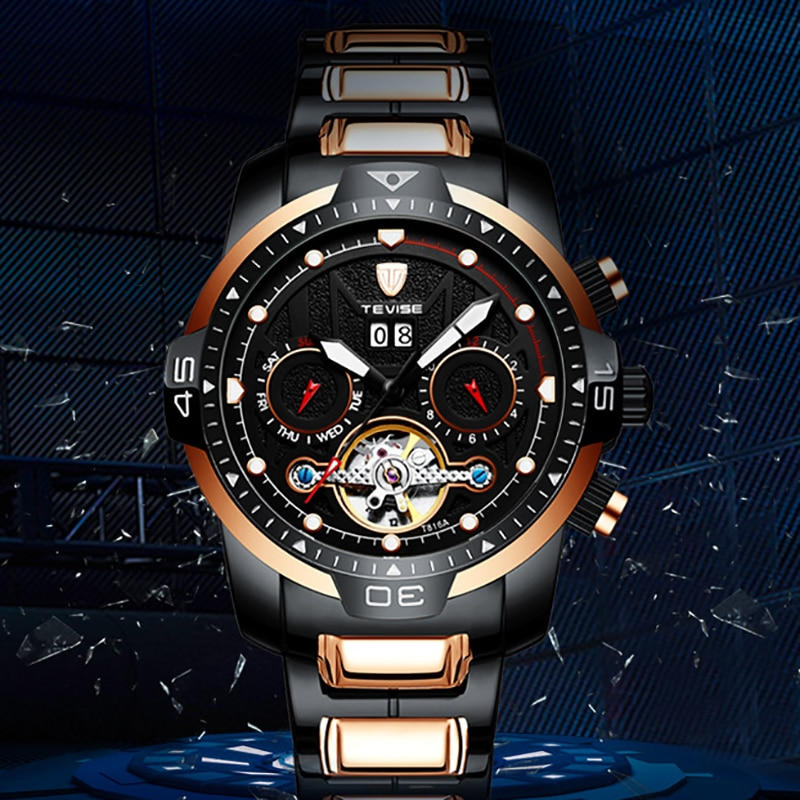 Fashion High-end Limited Multifunctional Mechanical Watch European and American Waterproof Watch Student Sports Watch Men's