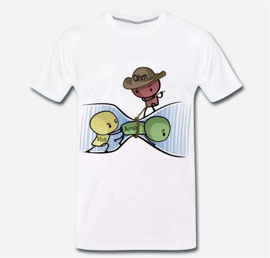 Tops camiseta de fórmula física de ley Ohms divertida 1 S-M-L-XL camiseta de uso al aire libre