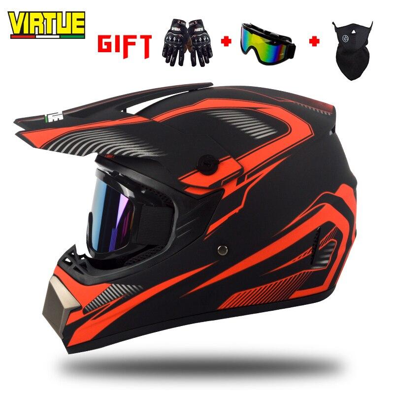 Cascos completos de motocicleta eléctrica Virgin cascos todoterreno de cobertura completa cuatro estaciones características universales Cool locomotora Helm