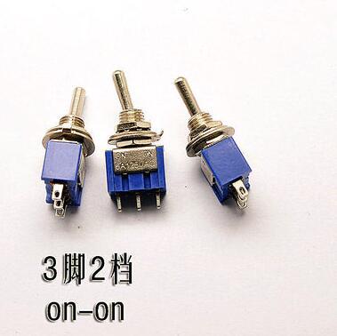 10pcs/lot Mini MTS-102 3-Pin ON-ON 6A 125V 3A250VAC Toggle Switches Good Quality