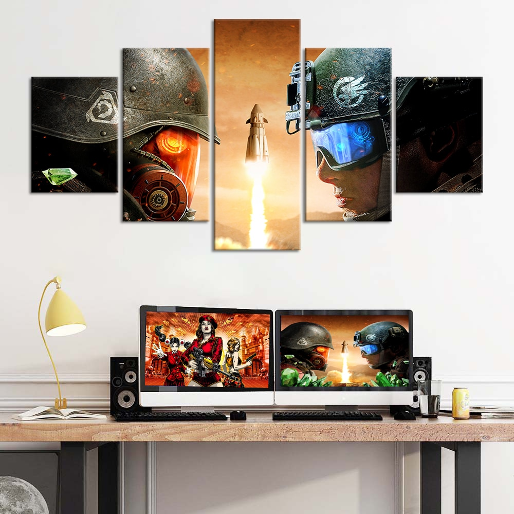 5 piezas de pintura al óleo remasterizada sobre lienzo, pósteres de juegos, pegatinas de pared, ilustraciones impresas en HD, decoración de habitación