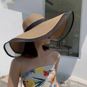 Women Hat Beach Hat 16CM Wide Brim Straw Hat Summer Hats for Women Ladies Hats and Caps Bonnets for Women Designer Sun Hat Visor