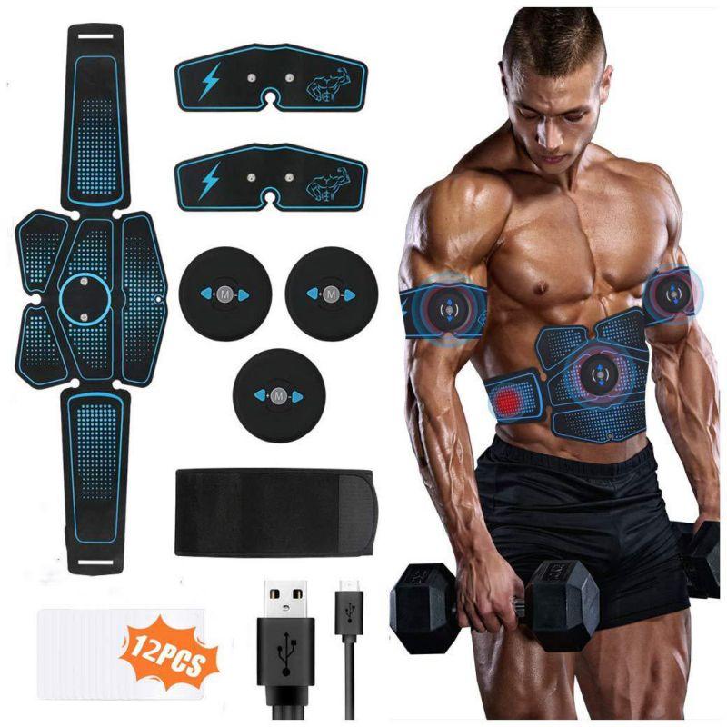 Estimulador muscular portátil de cintura para brazo, pierna y cadera, recargable vía USB, máquina de Fitness, dispositivo de entrenamiento ejercitador Abdominal
