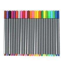 24 kleuren 0.4 Mm Fineliner Pennen Super Fijne Marker Pen Waterbasis Diverse Inkt Finecolour Manga tekening Arts Schilderen Potloden