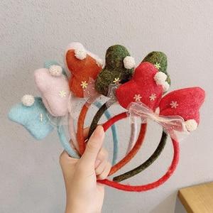 3D 1 шт снеговиков, обруч для волос, повязки для волос, оленьи рога Рождество эластичная повязка на голову, наряд для фотосессий подарок повяз...