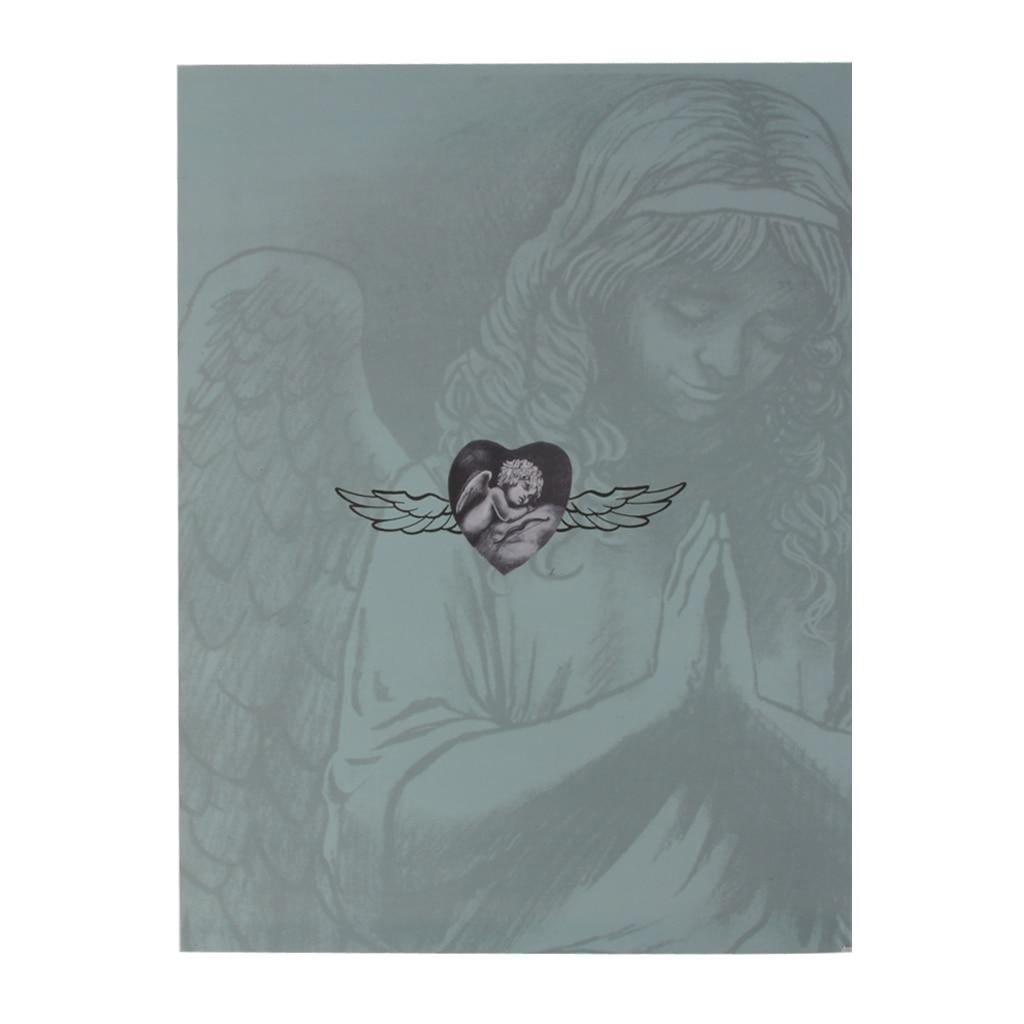 110 páginas tatuagem esboço livro de referência folha de instruções flash arte design a4