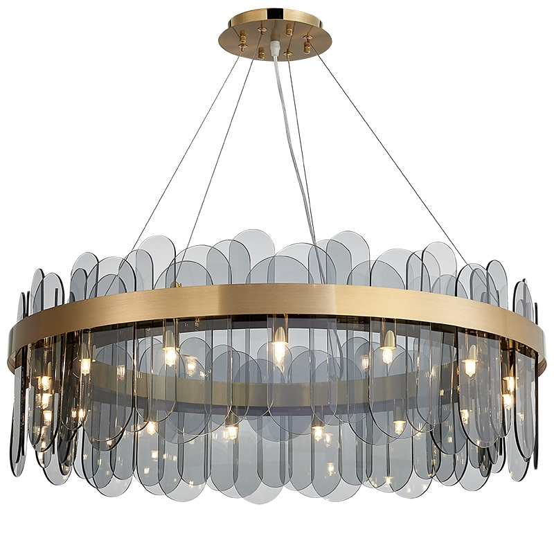 زجاج قلادة أضواء فاخرة hanglamp الأزرق الزجاج مصباح معلق G9 الشمال مصباح نوعية جيدة قلادة مصباح غرفة المعيشة الإضاءة