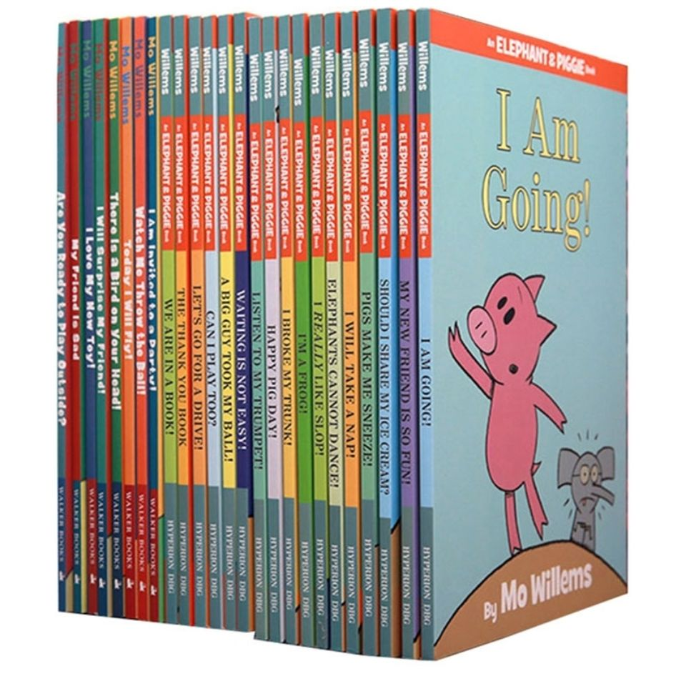 25 Books/Set An Elephant and Piggies Book Interesting Story Children's English Picture Books Kids early education Learning Toys
