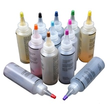 12 pièces Kit de teinture pour cravate tissu bricolage Textile peintures une étape accessoires Permanent artisanat vêtements Graffiti Jacquard Non toxique coloré