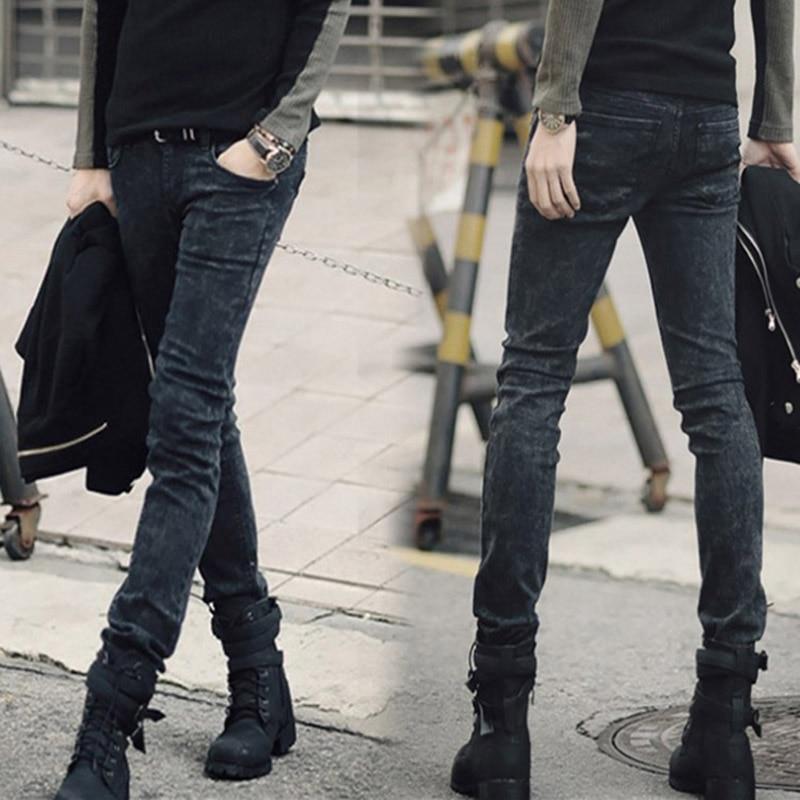 Novo 2020 Moda masculina Coreano floco de neve calça jeans cinza lápis calças calças pés magros calças justas dos homens adolescentes dos homens denim jeans