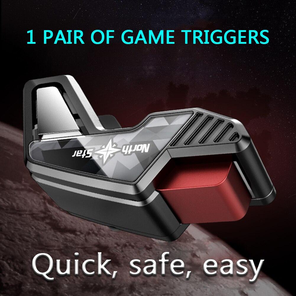 1 par jogo do telefone móvel botão de fogo l1 r1 gamepad alvo chave atirador gatilho controlador para iphone xiaomi huawei telefone universal
