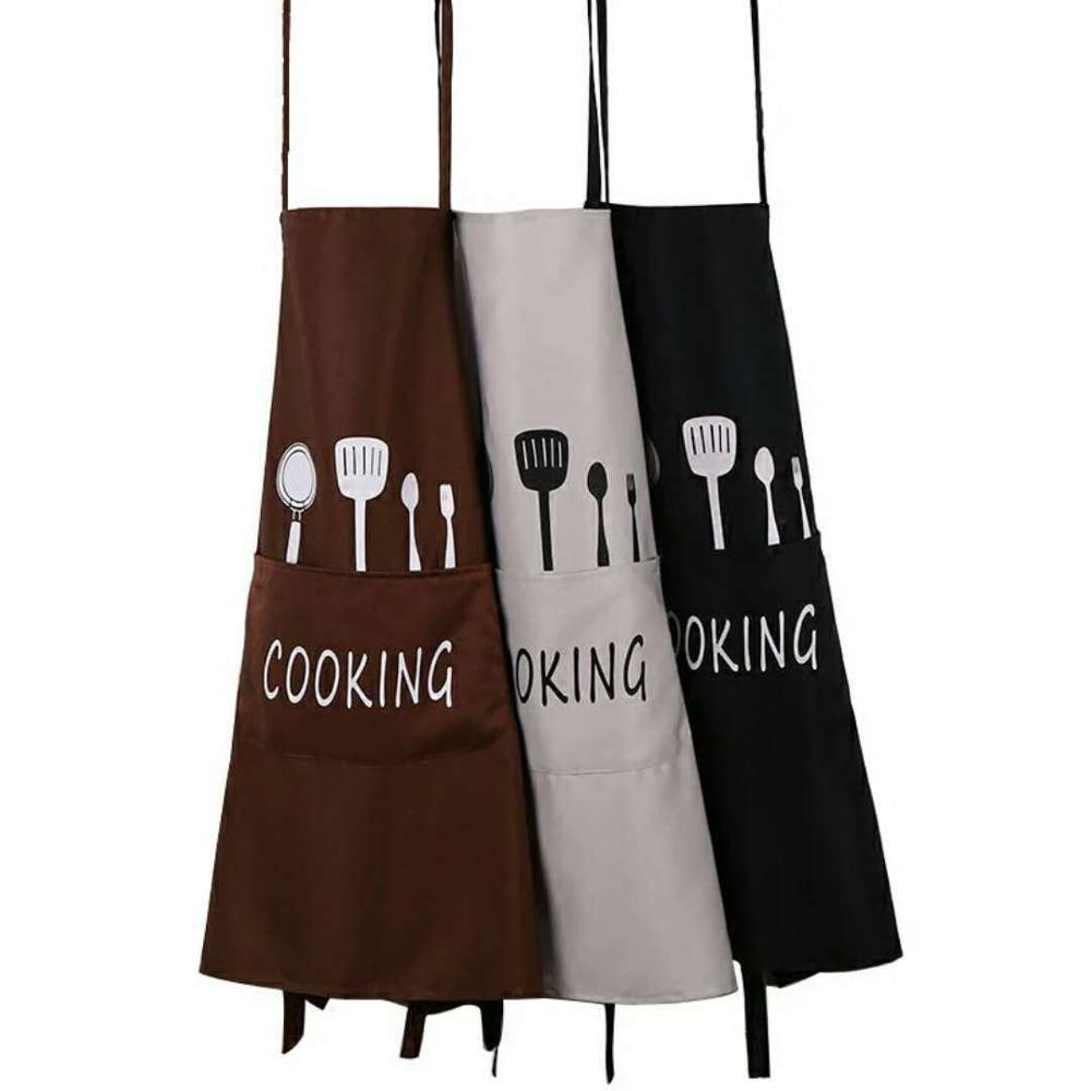 Schürzen Erwachsene Lätzchen Kochen Wasserdicht Polyester Schürze 1PCS Kaffee Shop Reinigung Schürzen Frau Männer Küche Zubehör
