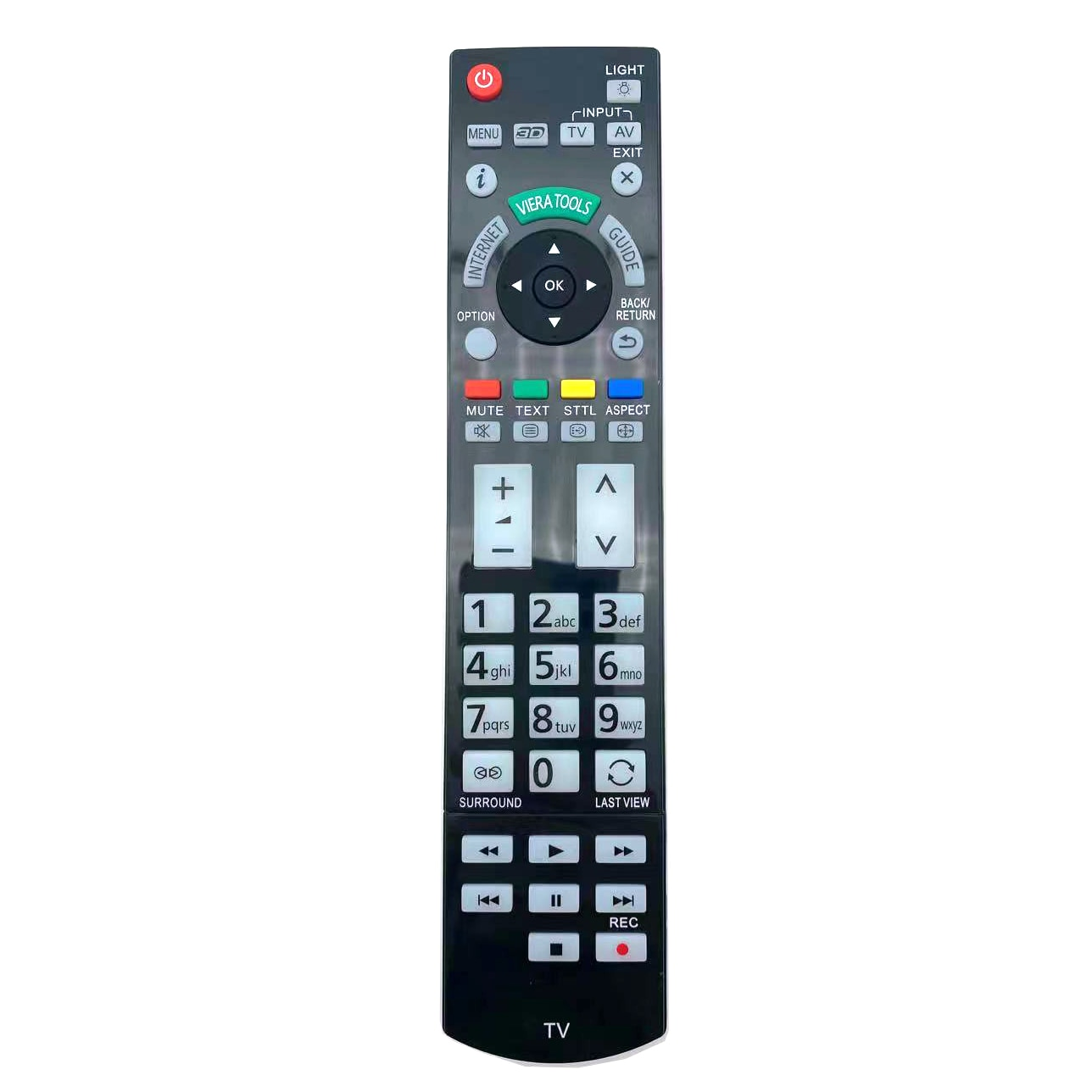 Replacement Remote Control for Panasonic N2QAYB000715 for TX-L42ETW50 TX-P50VT50B TX-P50ST30B LED 3D