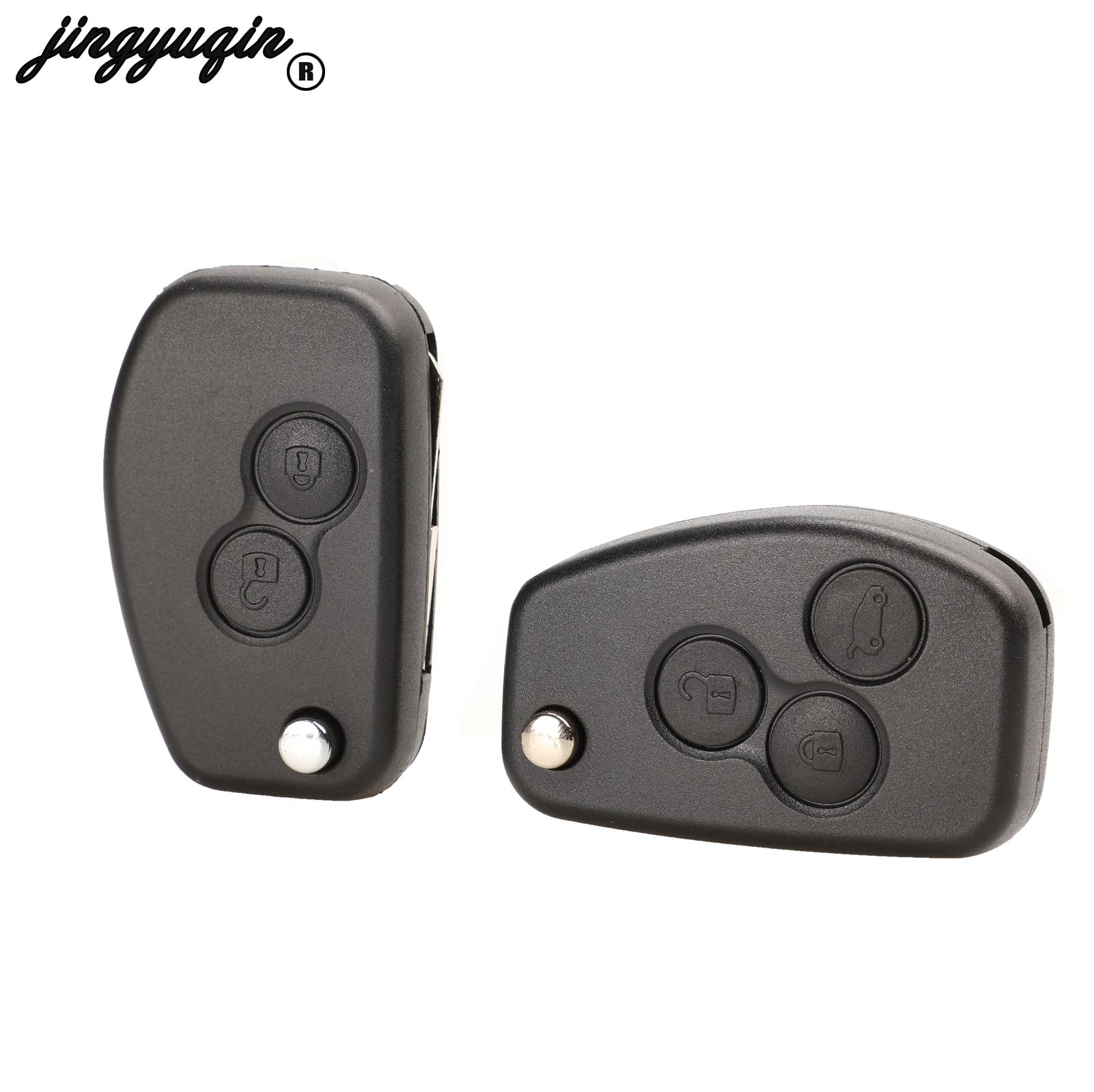 Jingyuqin für Renault Megane Dacia Modus Espace Duster Clio Geändert Schlüssel 2 Tasten Flip Folding Remote Key Abdeckung Fall Fob shell