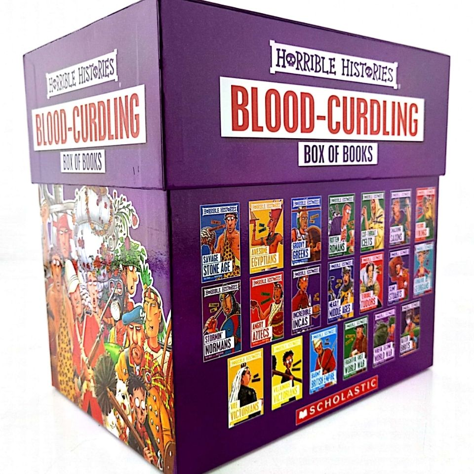 20 BOOKS  Horrible Histories Blood Curdling Box Of Books Collection Original English Reading Children's Books